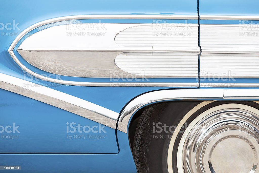 Vintage American Car Side Detail royalty-free stock photo