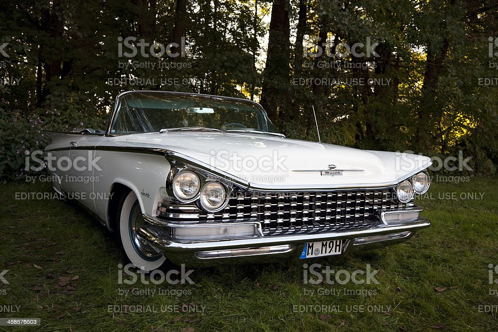 Vintage American Car1959 Buick Invicta Convertible royalty-free stock photo