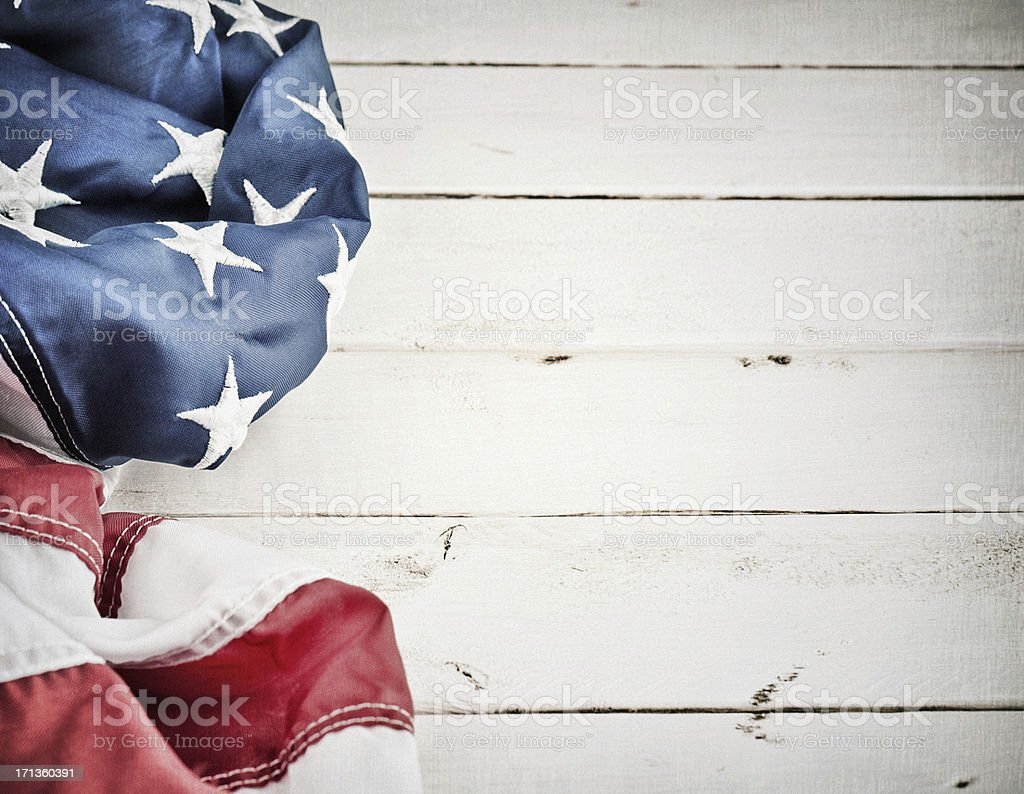 Vintage American Flag Background stock photo
