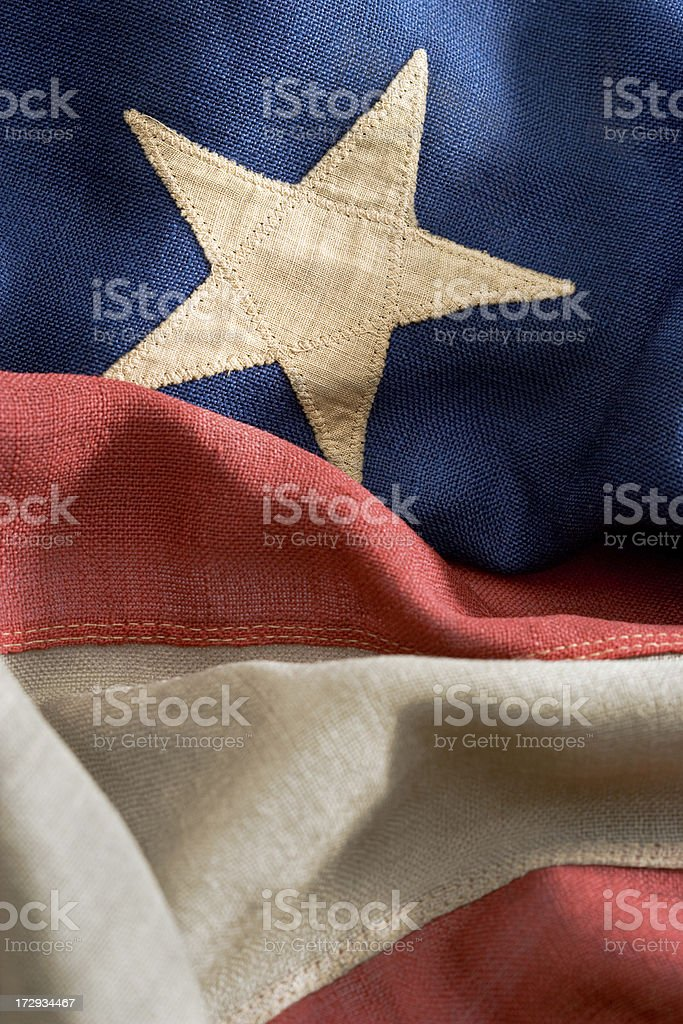 vintage American flag royalty-free stock photo