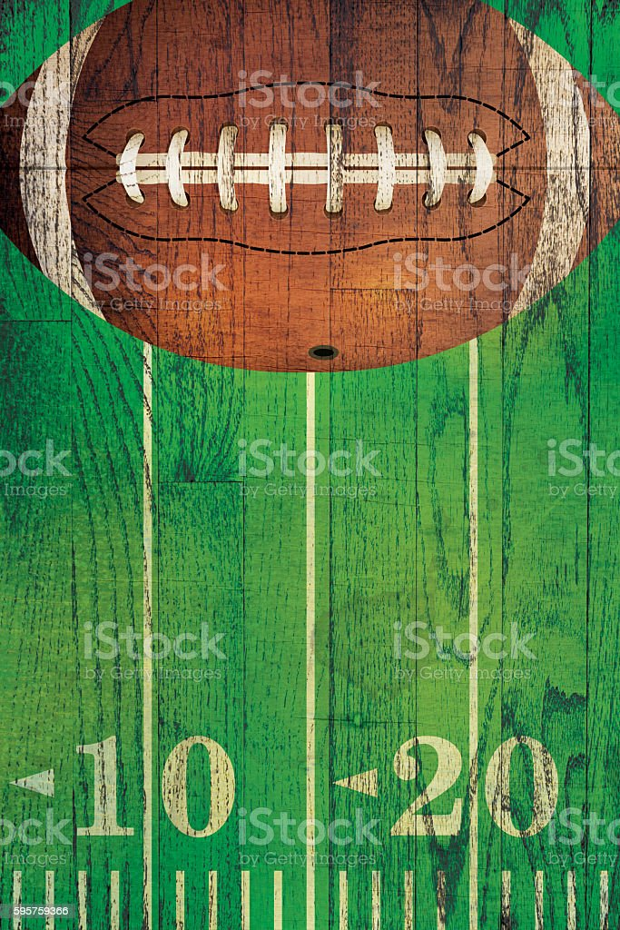 Vintage American Football Ball Field Background stock photo