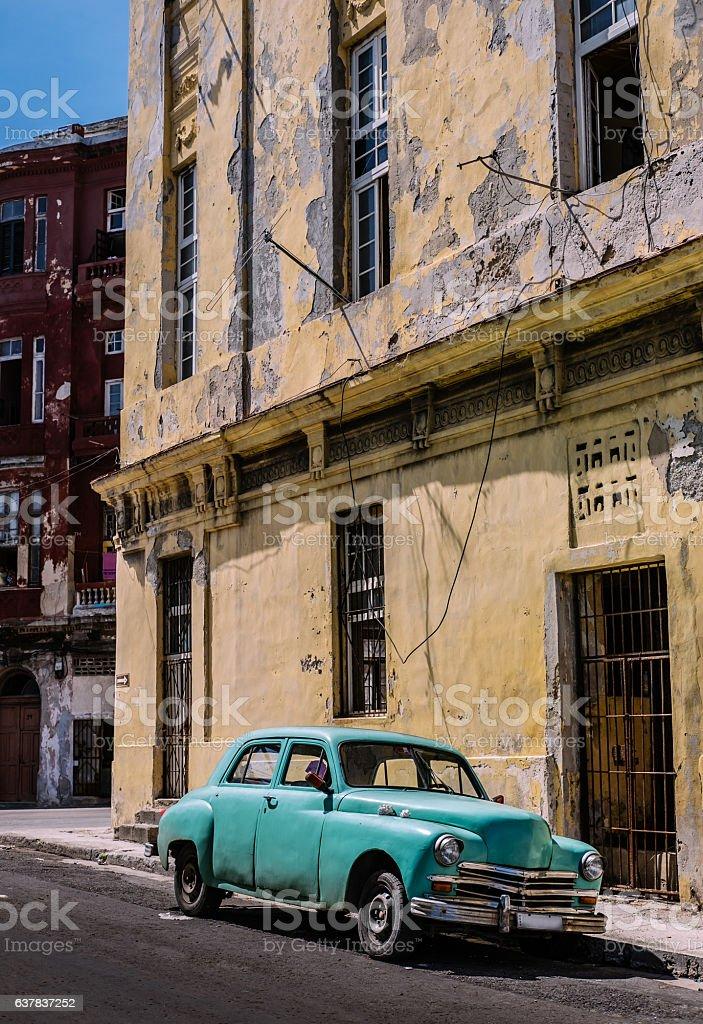 Vintage American in Havana stock photo