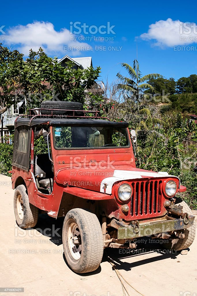 vintage american military vehicel philippines royalty-free stock photo