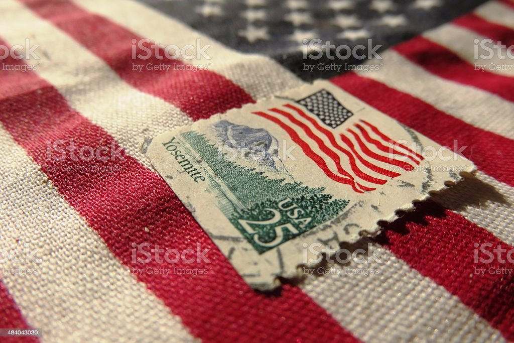 Vintage American Stamp stock photo