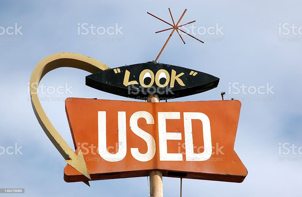 Vintage Americana Sign stock photo