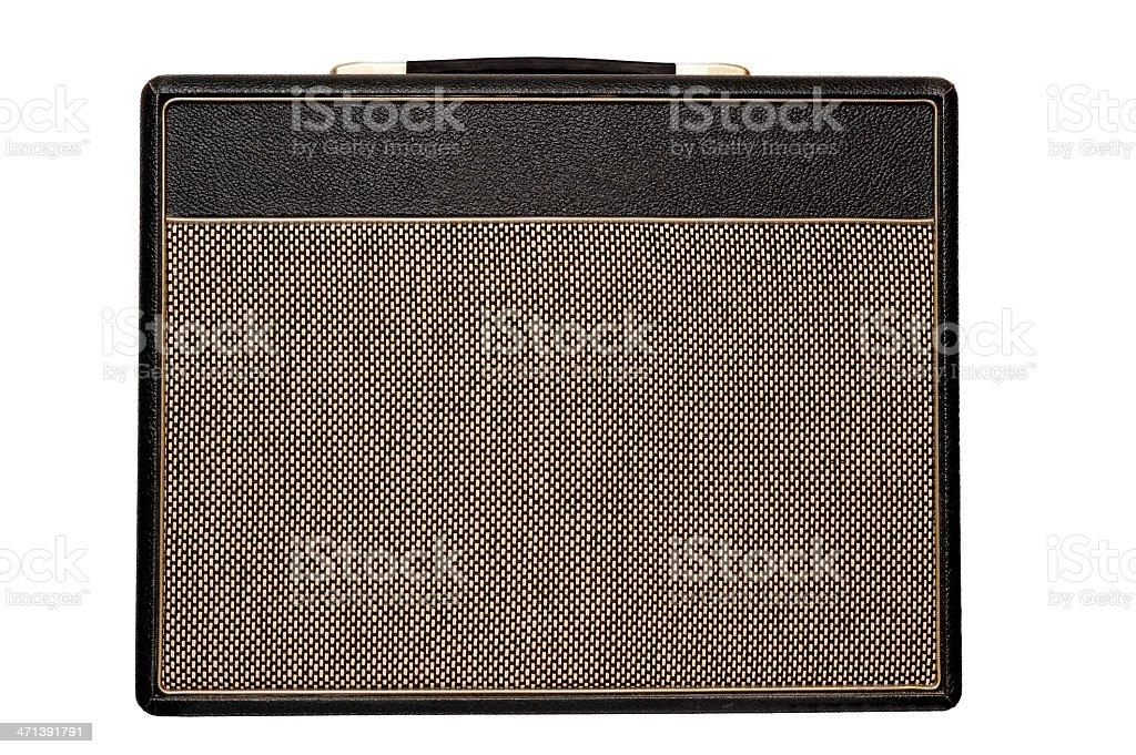 Vintage amplifier stock photo