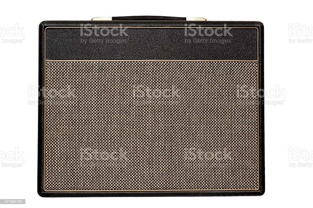 Vintage amplifier stock photo