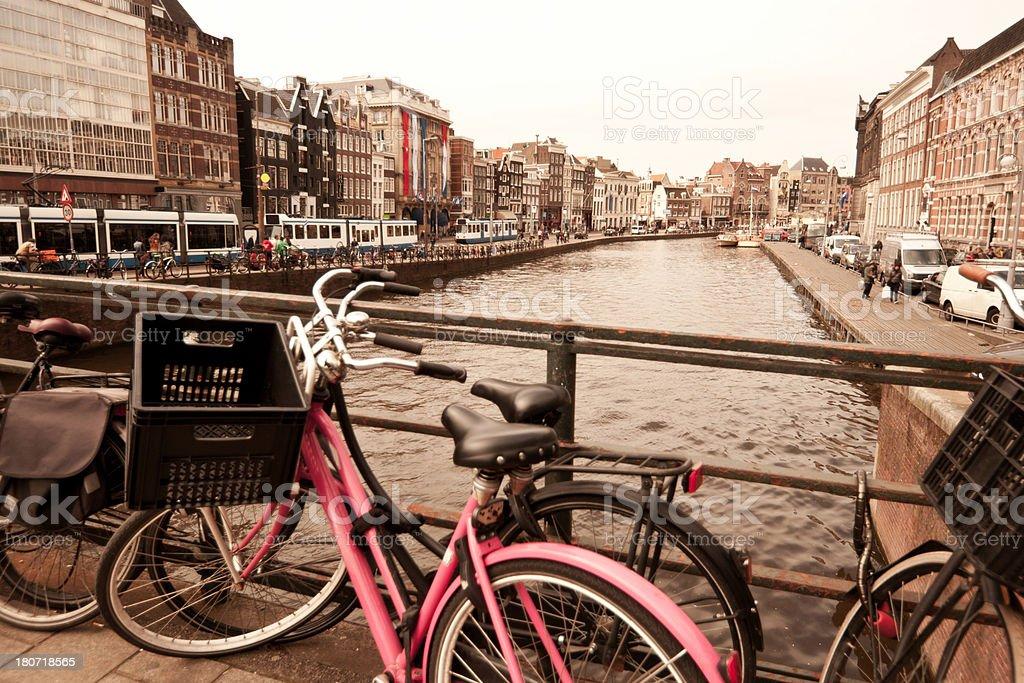 Vintage Amsterdam royalty-free stock photo