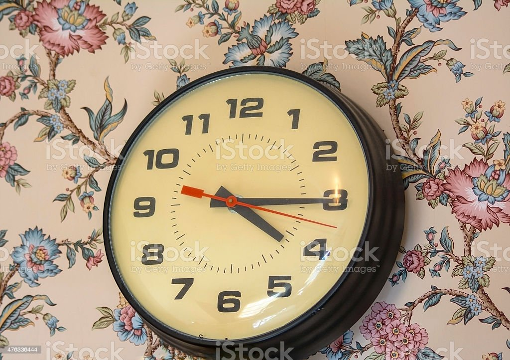 Vintage Analog Clock stock photo