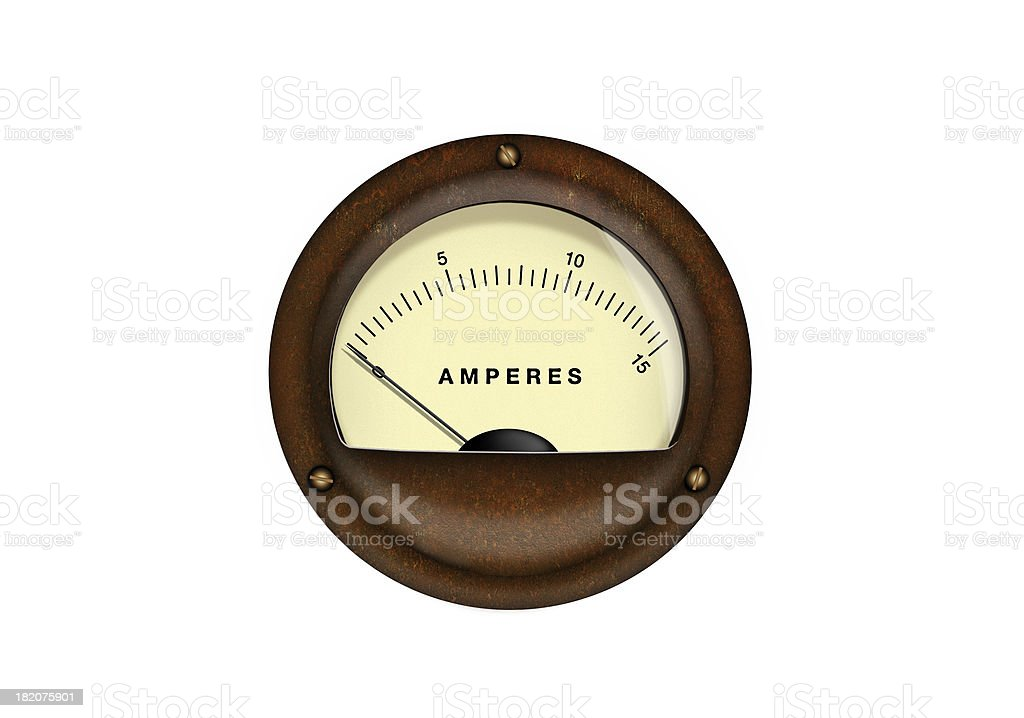 Vintage analog scale. stock photo