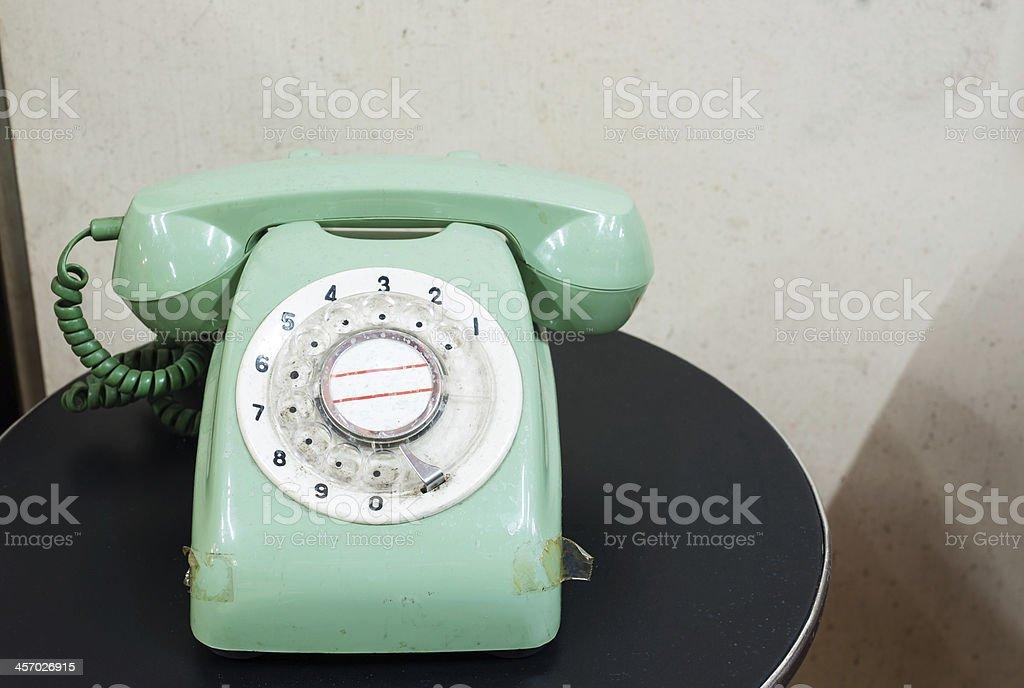 Vintage analog telephone stock photo