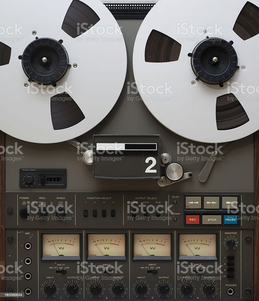 Vintage analogue four track recorder royalty-free stock photo