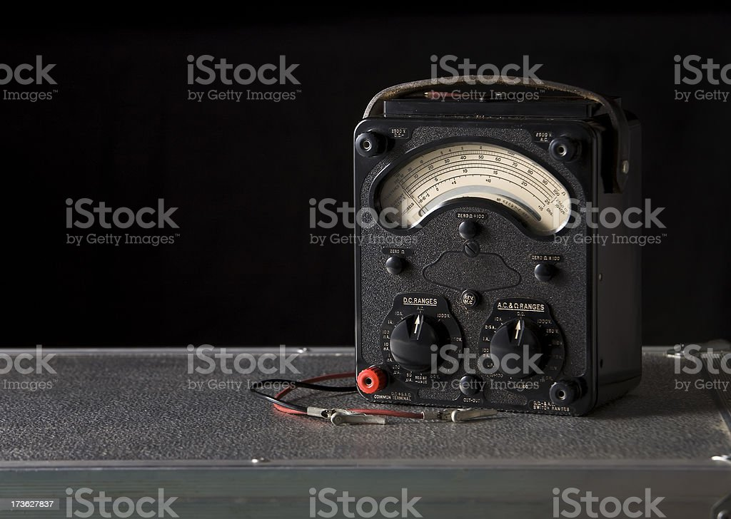 Vintage Analogue Multimeter royalty-free stock photo