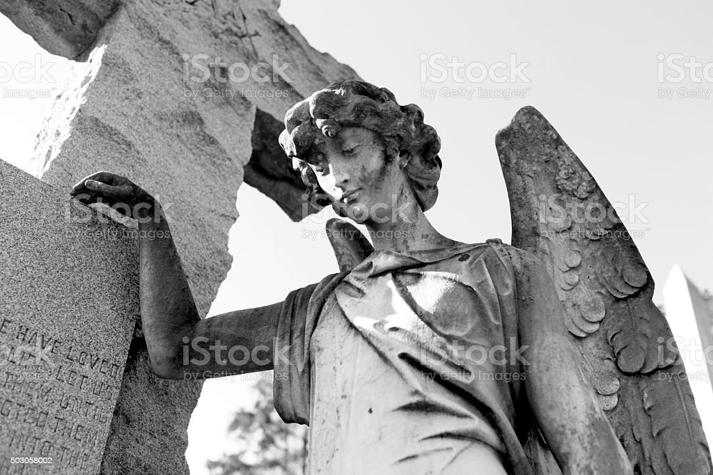 Vintage angel from the 1800's stock photo
