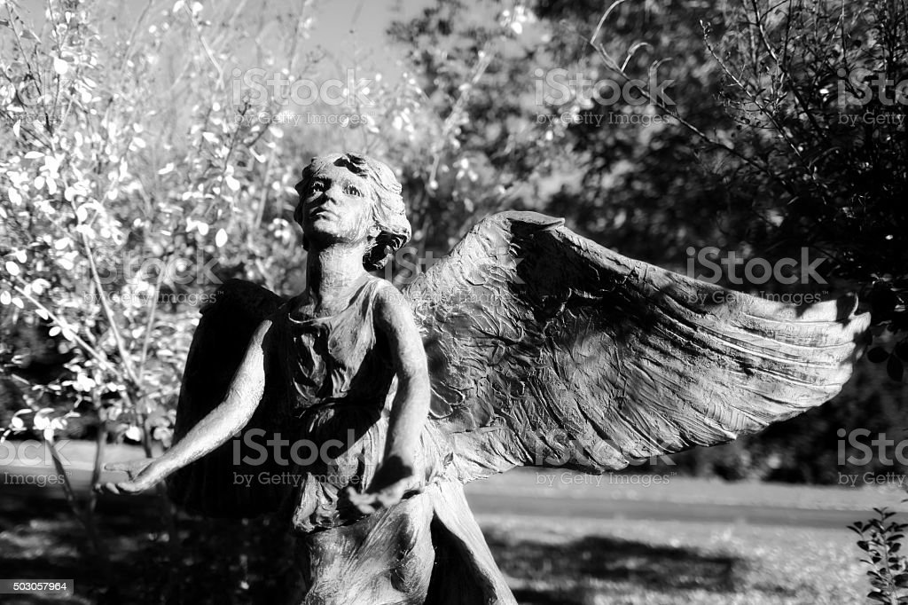 Vintage angel from the mid 1800's stock photo