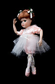 Vintage Antique Ballerina Children Doll