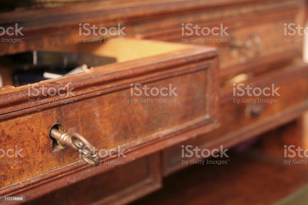 Vintage Antique drawer royalty-free stock photo