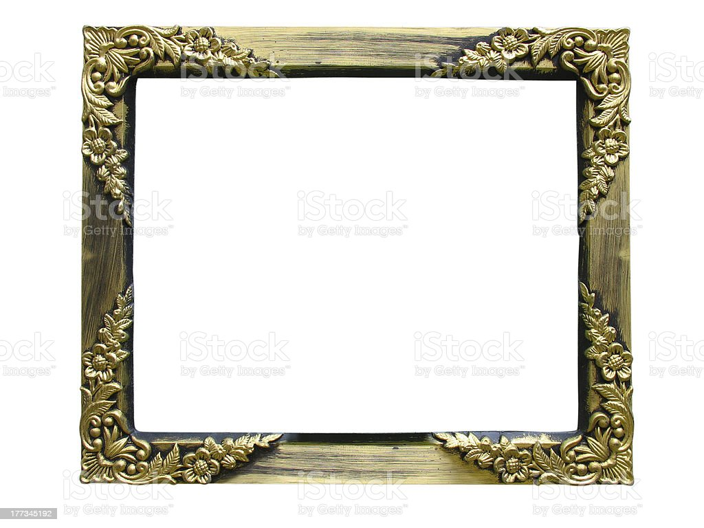 Vintage antigo ouro Moldura de Quadro foto de stock royalty-free