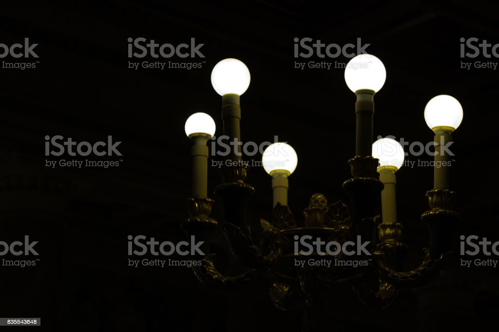 vintage antique lamp stock photo
