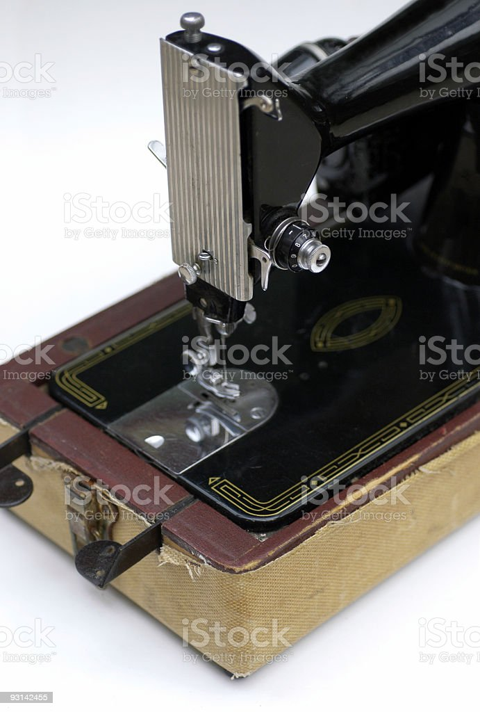 Vintage Antique Singer Sewing Machine 2 stock photo