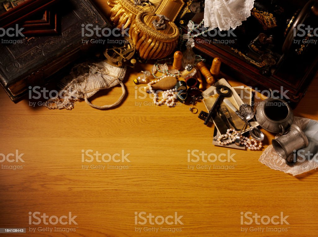 Vintage Antiques and Collectables royalty-free stock photo
