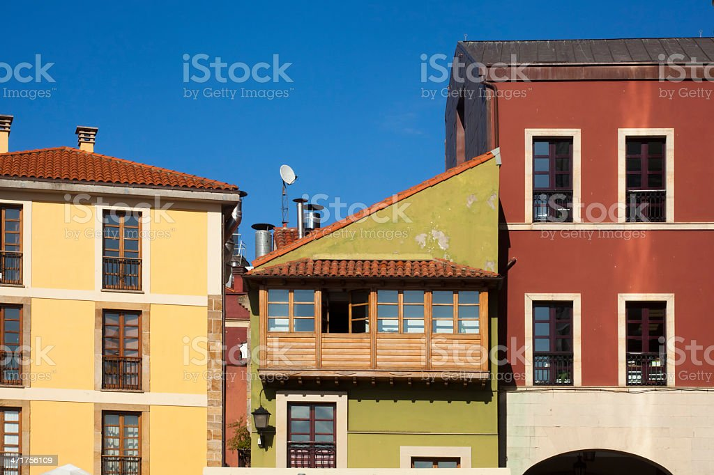 Vintage apartment buildings royalty-free stock photo