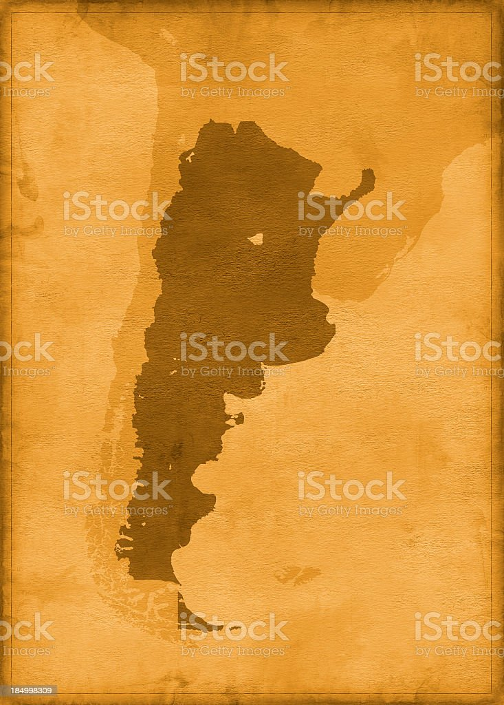 Vintage argentina map royalty-free stock photo