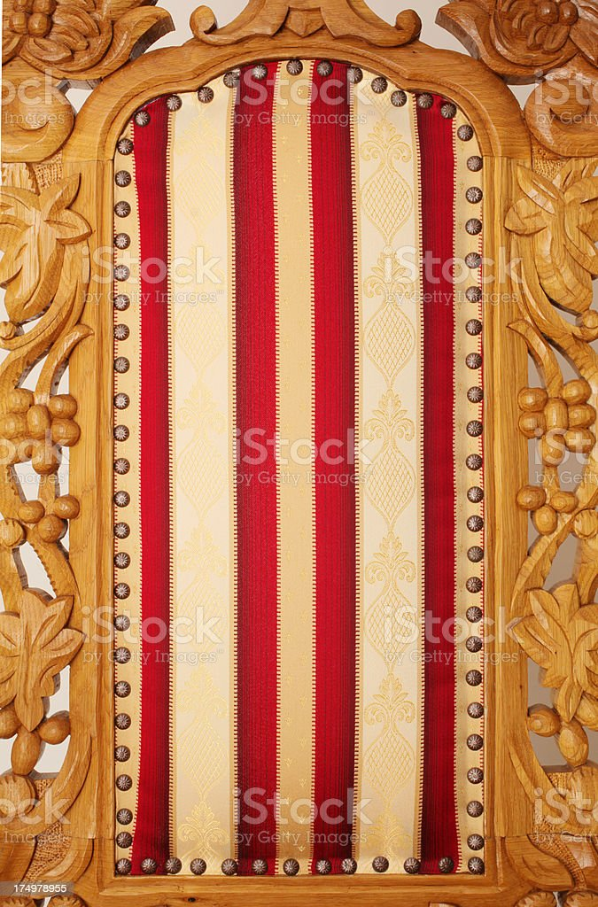 Vintage Armchair Back royalty-free stock photo