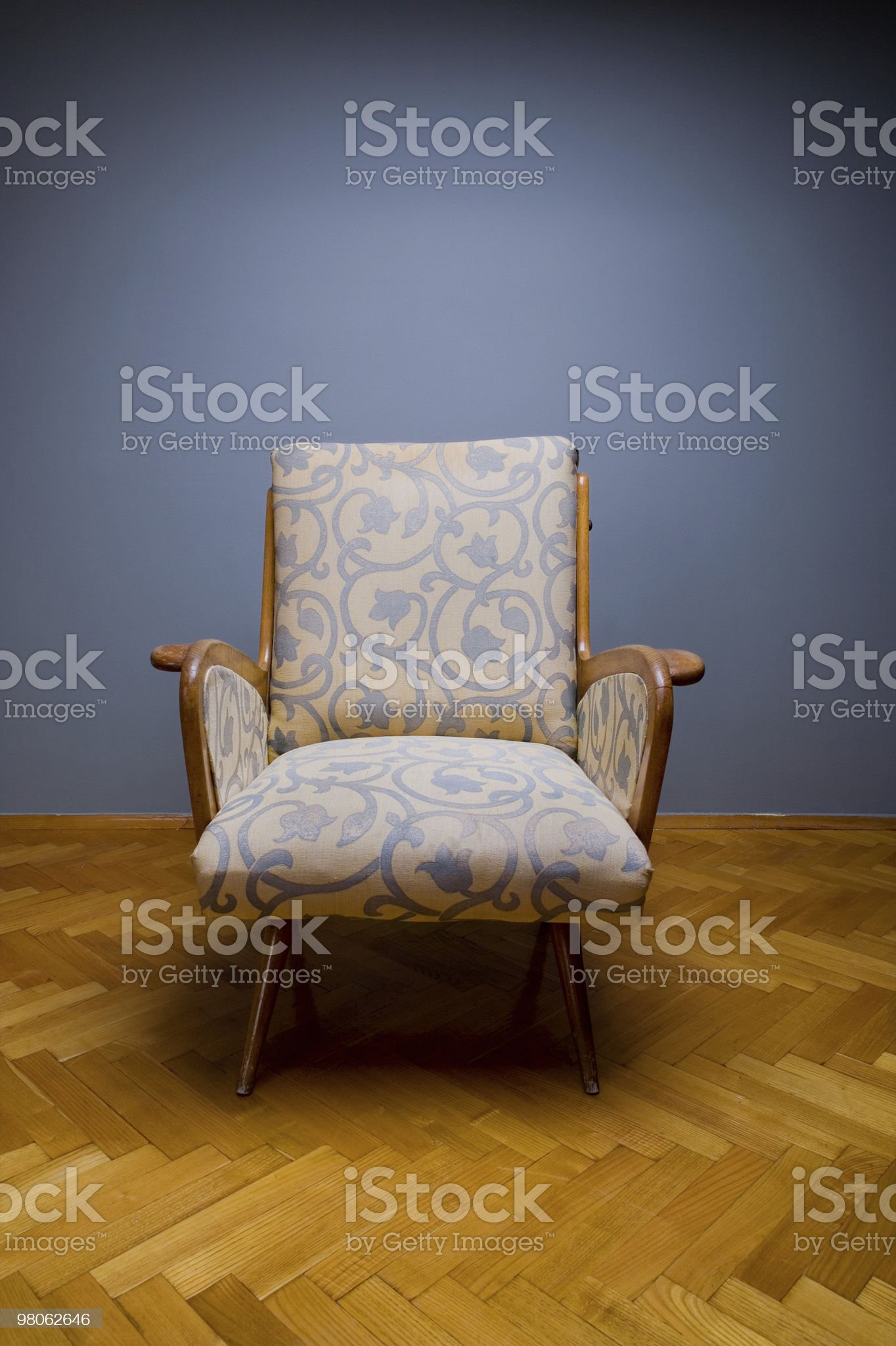 Vintage armchair royalty-free stock photo