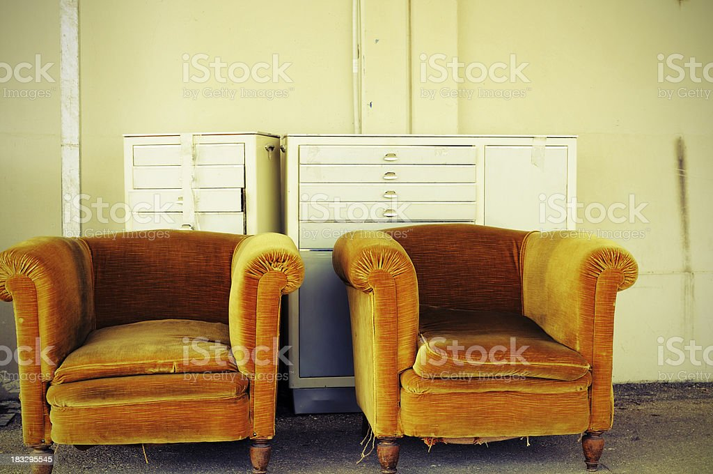 Vintage Armchairs royalty-free stock photo