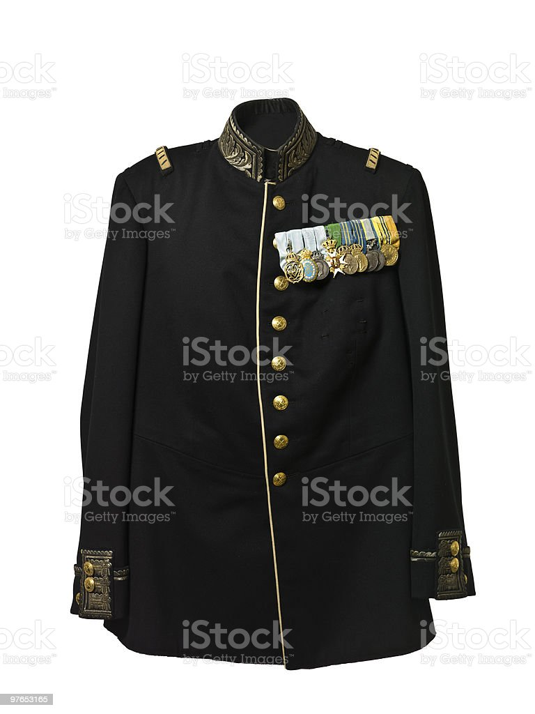 Vintage army jacket stock photo