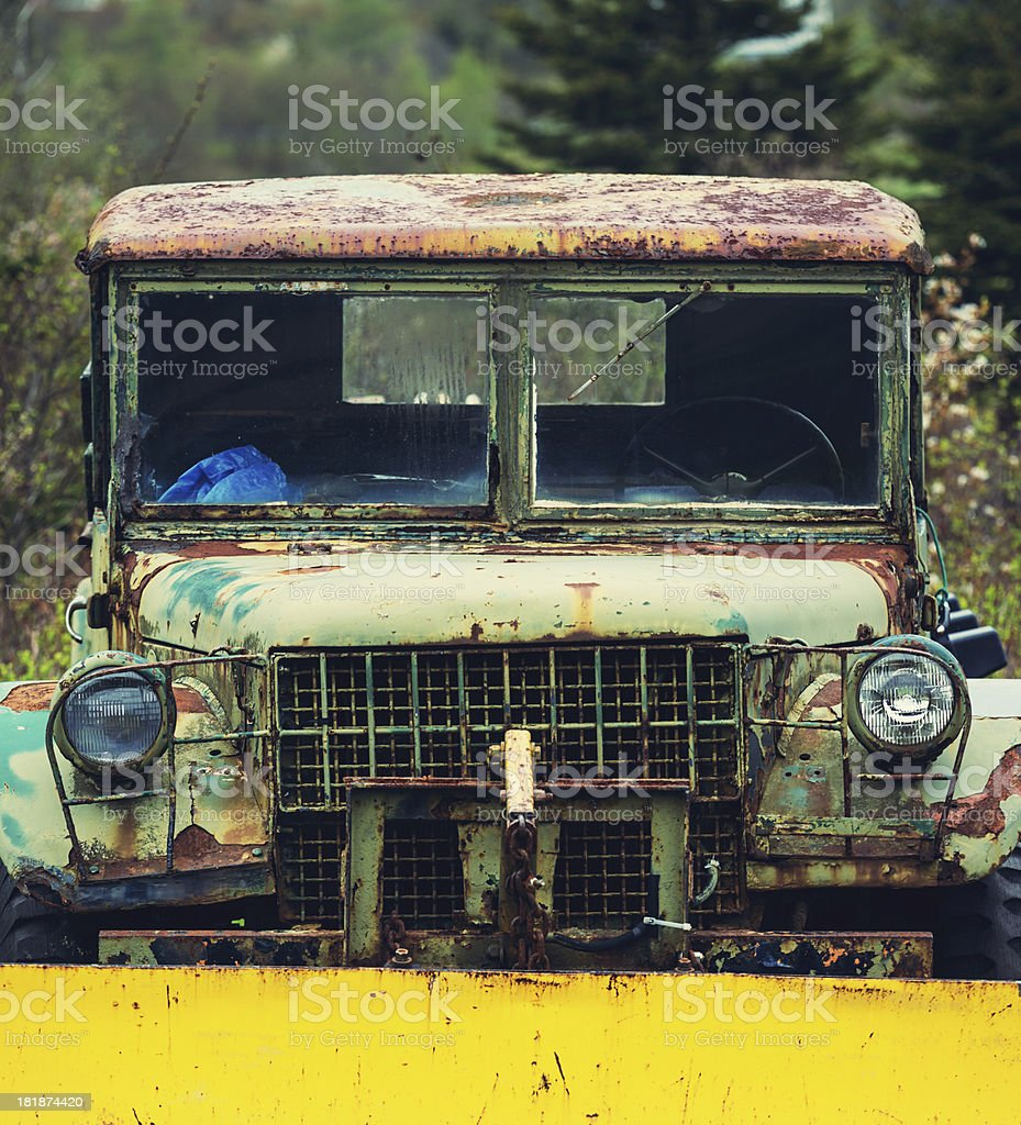 Vintage Army Truck royalty-free stock photo