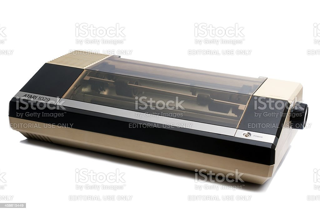 Vintage Atari 1029 Dotmatrix printer stock photo