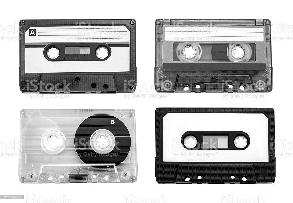 vintage audio cassette stock photo