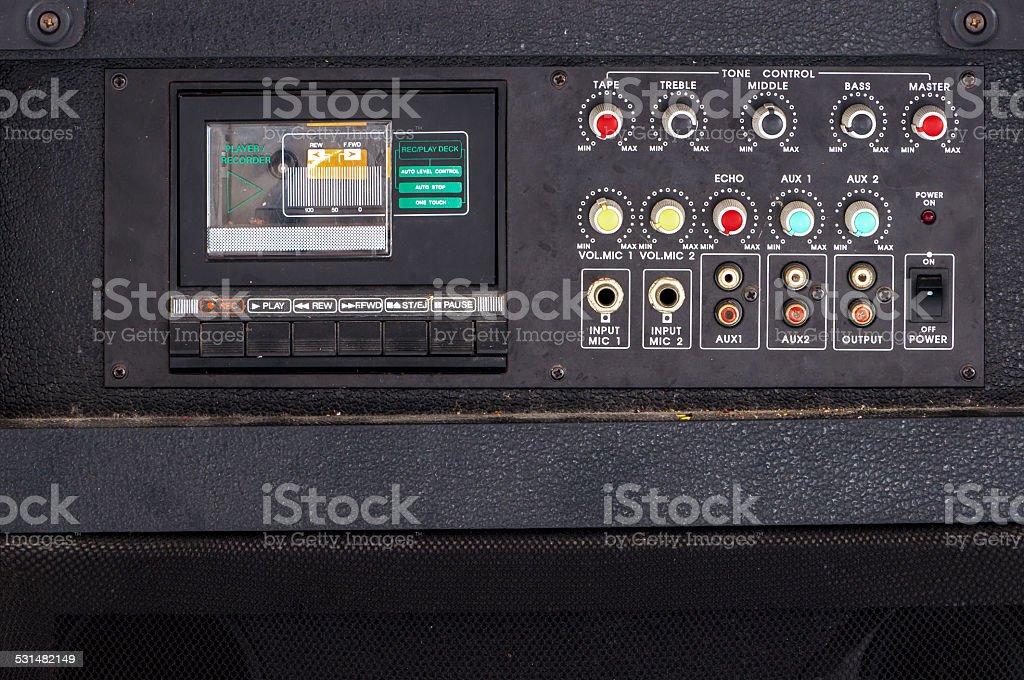 Vintage  audio Karaoke cassette player stock photo