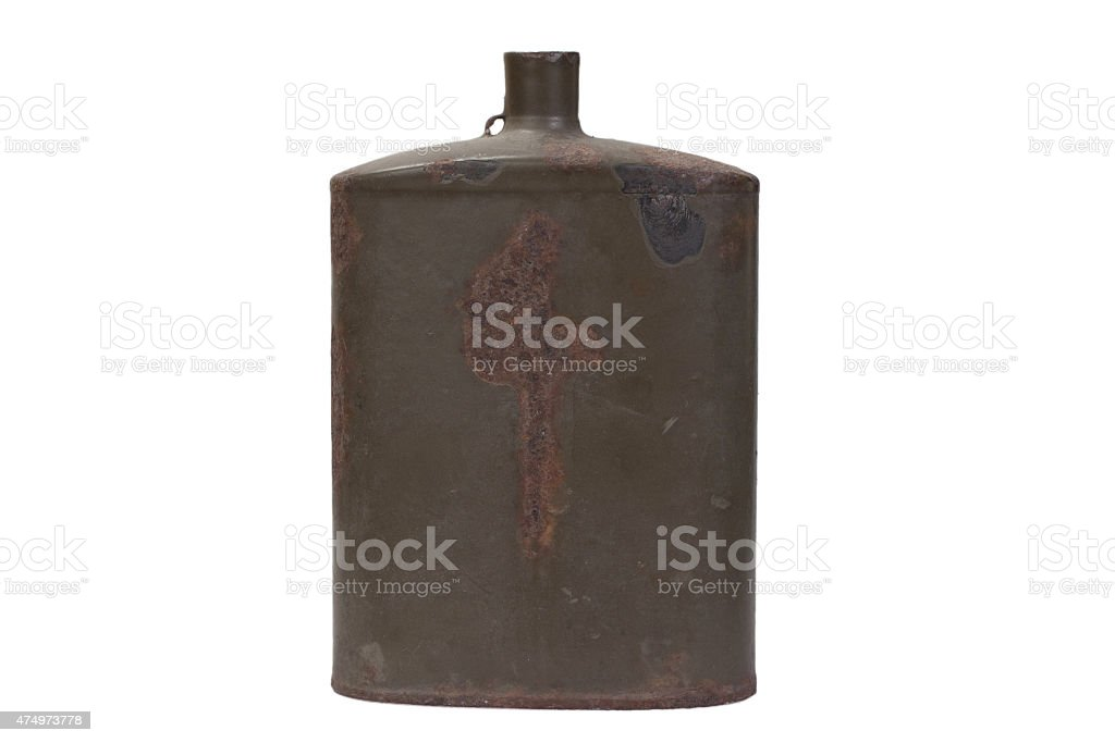 Vintage Austro-Hungarian military canteen WWI period stock photo