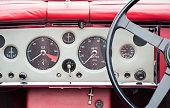 vintage auto dashboard