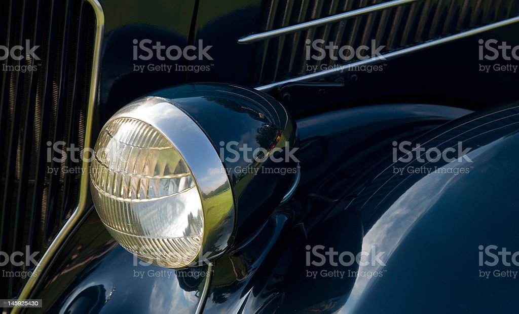 Vintage Automobile Headlight royalty-free stock photo