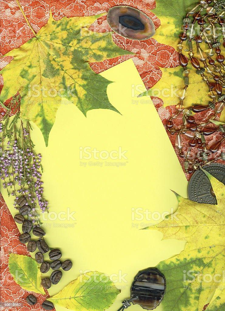 Vintage autumn background royalty-free stock photo