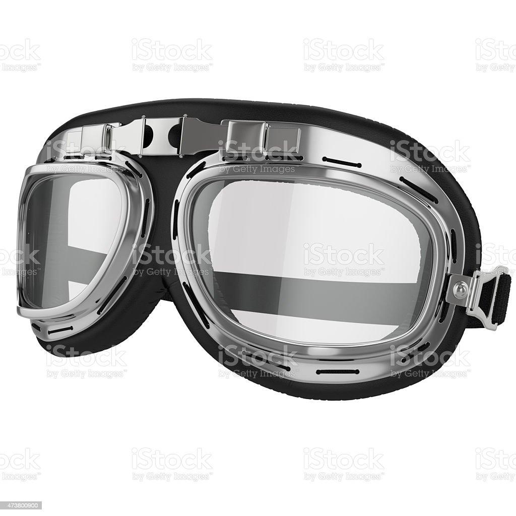 Vintage aviation bike goggles stock photo