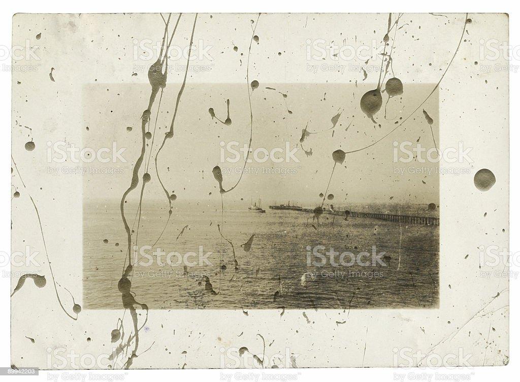 Vintage Avila Beach Scan royalty-free stock photo