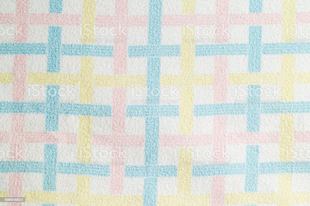 Vintage Baby Blanket stock photo