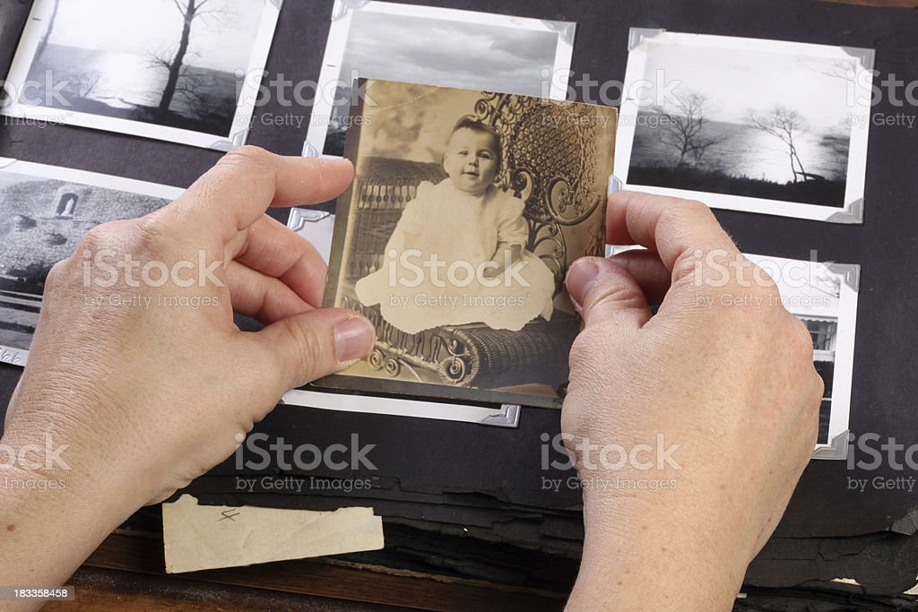 Vintage Baby royalty-free stock photo