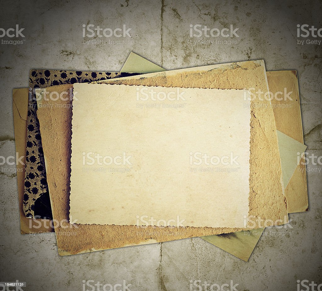 vintage bacground with albums, letters, photos royalty-free stock photo