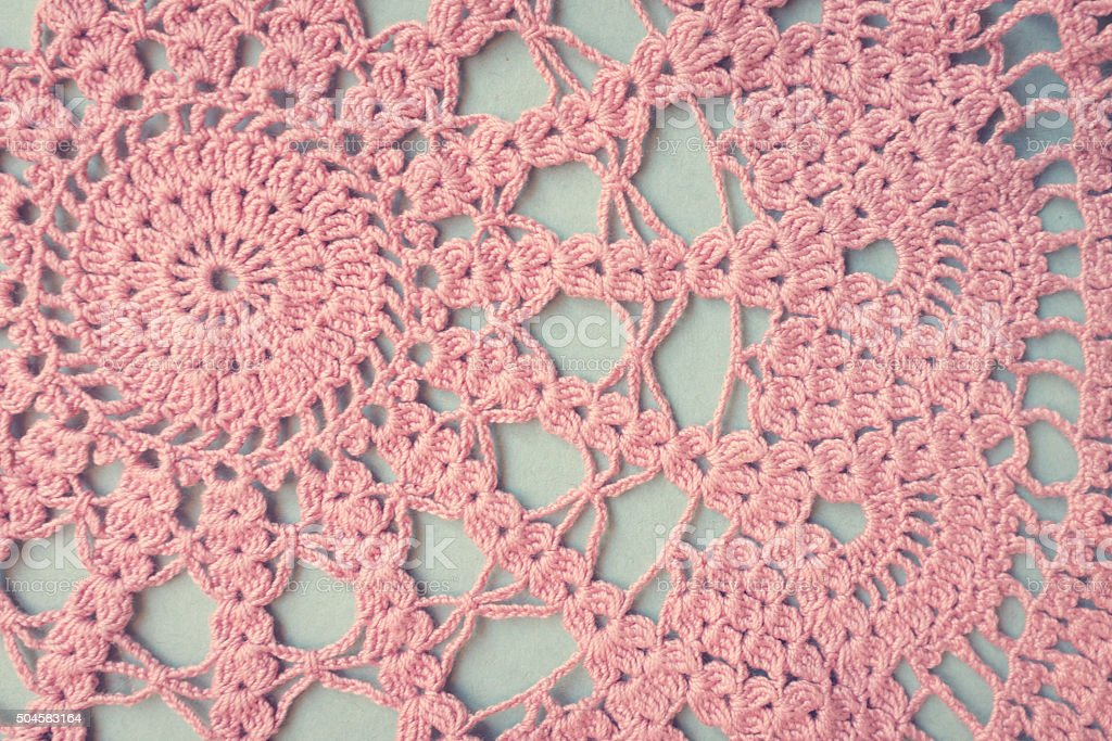 vintage background of lace doily. stock photo