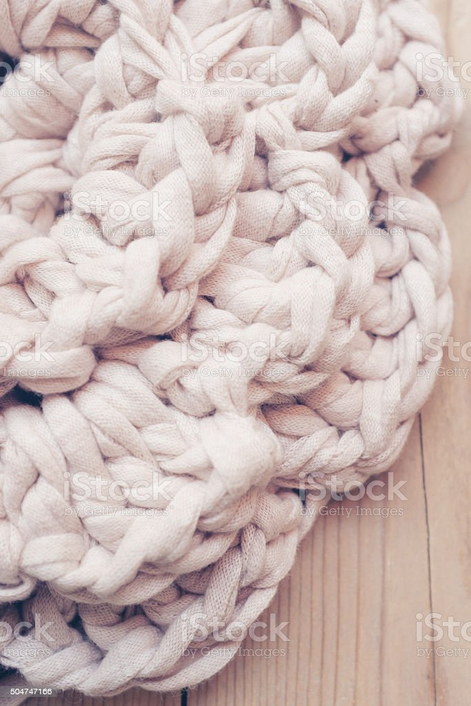 vintage background of t-shirt yarn doily. stock photo