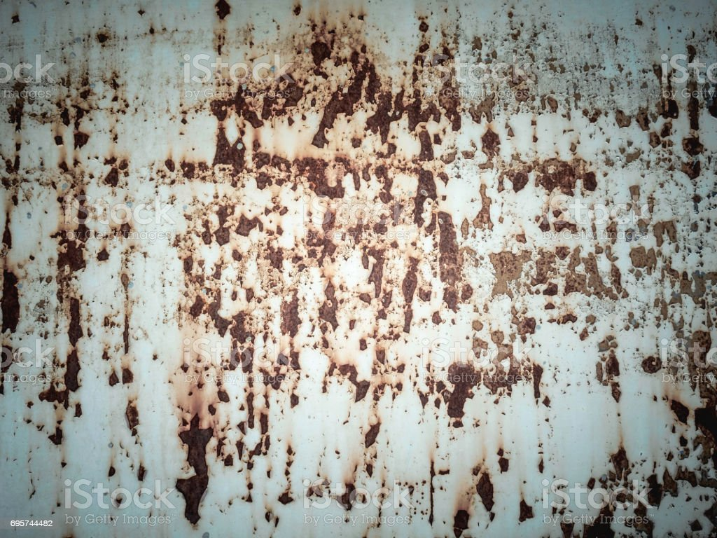Vintage background texture.White sheet metal is rusty, color is gliding. stock photo