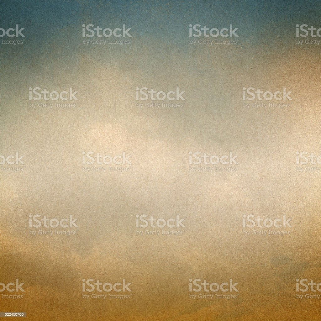Vintage background with clouds and Paper texture. stock photo