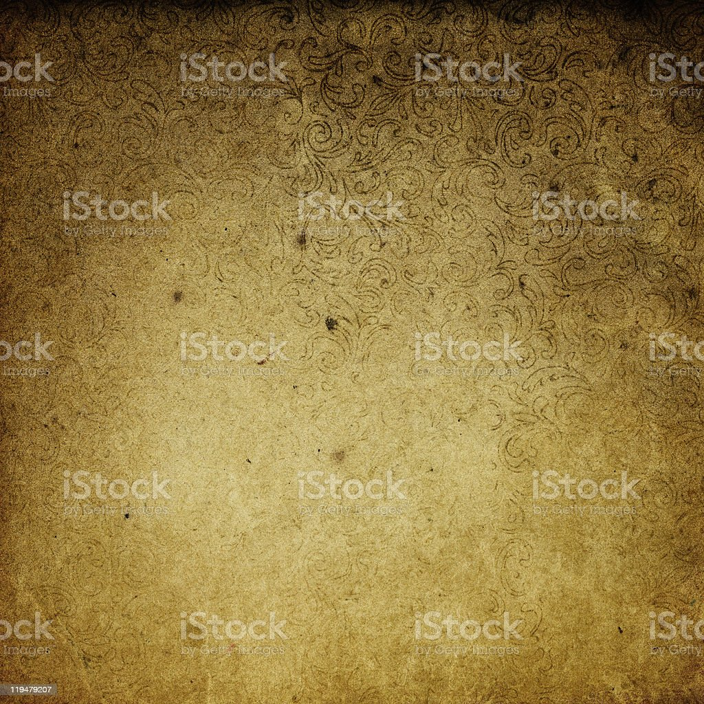 Vintage Background With Floral Patterns royalty-free stock photo