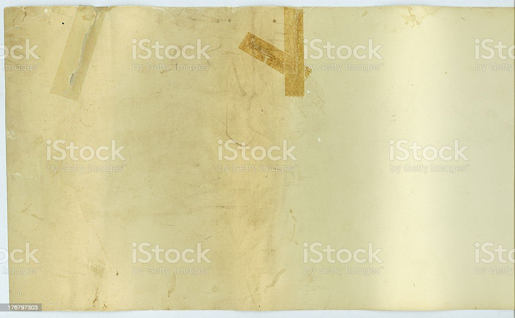 Vintage Backside of Scroll royalty-free stock photo
